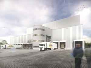 Artikel 'Outstanding' vrieshuis Aviko in Stedenbouw